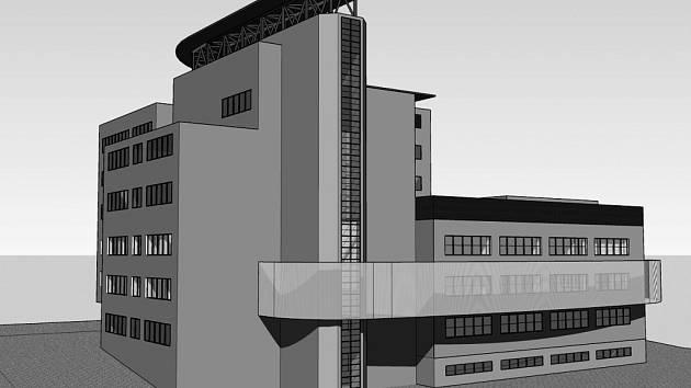 Vizualizace budovy bezpečnostního centra