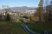 Pohled na město Frenštát pod Radhoštěm.