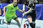 Pohár mistrů ve florbalu, o 3. místo (ženy): 1. SC Vítkovice - SB-Pro Nurmijarvi, 12. ledna 2020 v Ostravě. Na snímku (zleva) Sára Seevaldová a Silja Eskelinen.