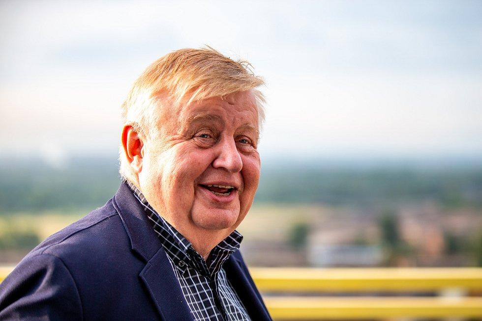 Odstřel ostravského komínu Strakáč, 3.srpna 2019 v Ostravě. Na snímku Jan Světlík.