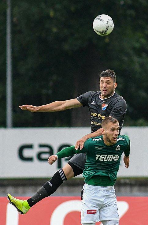 FORTUNA:LIGA - Skupina o titul, 5. kolo - FK Jablonec - FC Baník Ostrava, 8. července 2020 v Jablonci. Patrizio Stronati