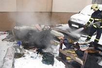 Požár bytu v Hrabové