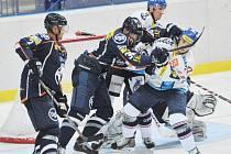 Hokejové utkání mezi Vítkovicemi a Košicemi.