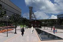 Studie území bývalého dolu Petr Bezruč architekta Josefa Havlíčka počítá i s malým náměstím.