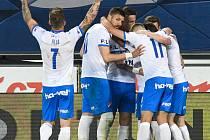 Fotbalisté Baníku Ostrava hráli na Letné proti Spartě (31. kolo FORTUNA LIGY, 9. května 2021).
