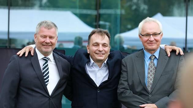 Vladimír Jirka, Radomír Prus a Jan Procházka - vynálezce baterie HE3DA