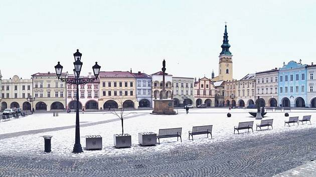 Masarykovo náměstí v Novém Jičíně. Ilustrační foto.