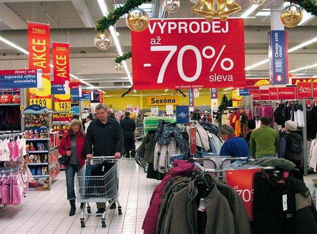Ilustrační foto z ostravského hypermarketu