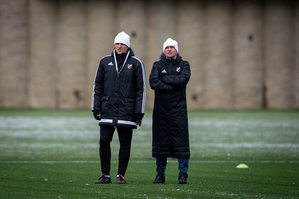 Nový trenér Baníku Luboš Kozel (vlevo) a jeho asistent Radek Slončík.