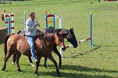 Své umění předvedl i milovník koní, herec Václav Vydra.