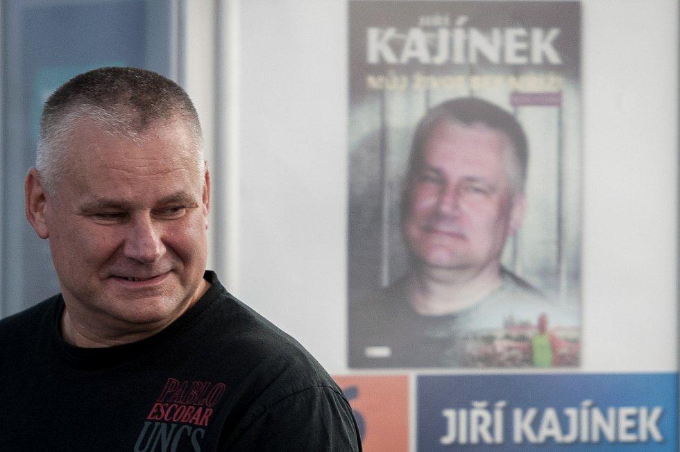 Beseda s Jiřím Kajínkem v Knihcentru 16. září 2017 v Ostravě.