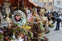Velikonoční jarmark na Jiráskově náměstí v Ostravě.