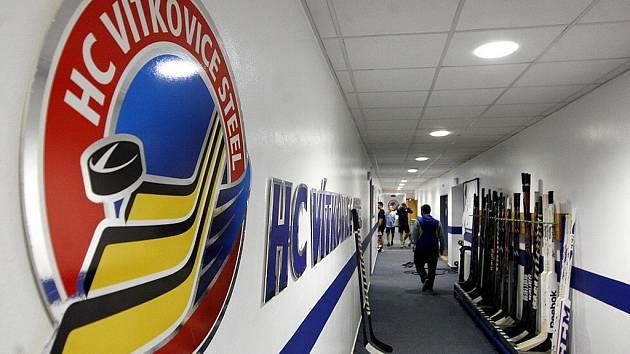 Záběr do kabiny hokejových Vítkovic.