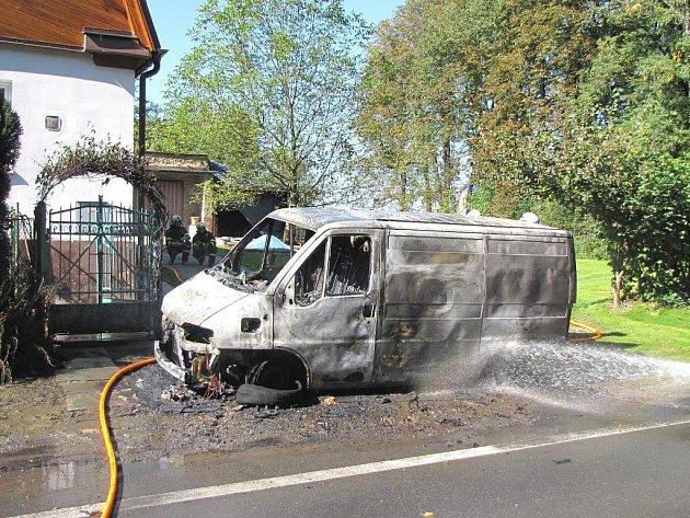Pět hasičských jednotek z Ostravy a okolí zasahovalo v úterý před polednem v Ostravě-Michálkovicích, kde na Petřvaldské ulici hořel dodávkový automobil Citroën se dvěma tlakovými lahvemi s kyslíkem a acetylenem.