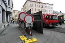 Uzavírka Janáčkovy ulice v centru Ostravy