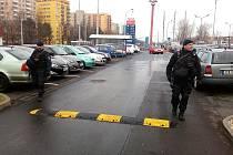 Policejní hlídka v centru Ostravy.