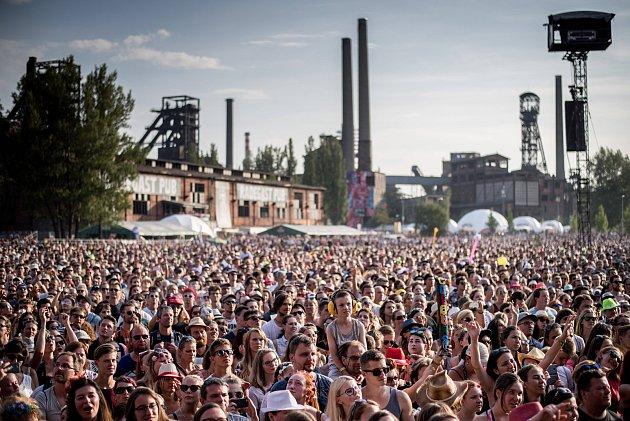 Hudební festival Colours of Ostrava ve čtvrtek 20. července 2017.