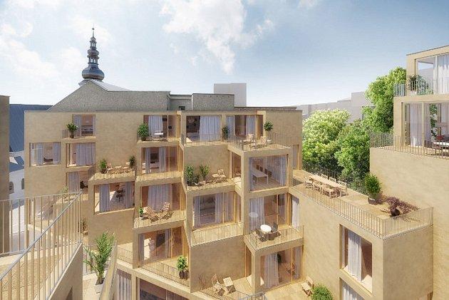Vizualizace nové budovy, která vznikne vcentru města.