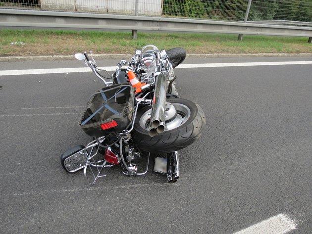 Snímek zmísta nehody.