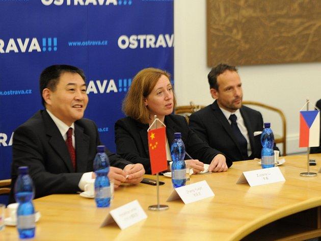 Primátor Ostravy Tomáš Macura přijal delegaci čínského města Su-čou.