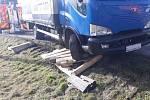 Nehoda v Bruzovicích, pátek 26. února 2021.