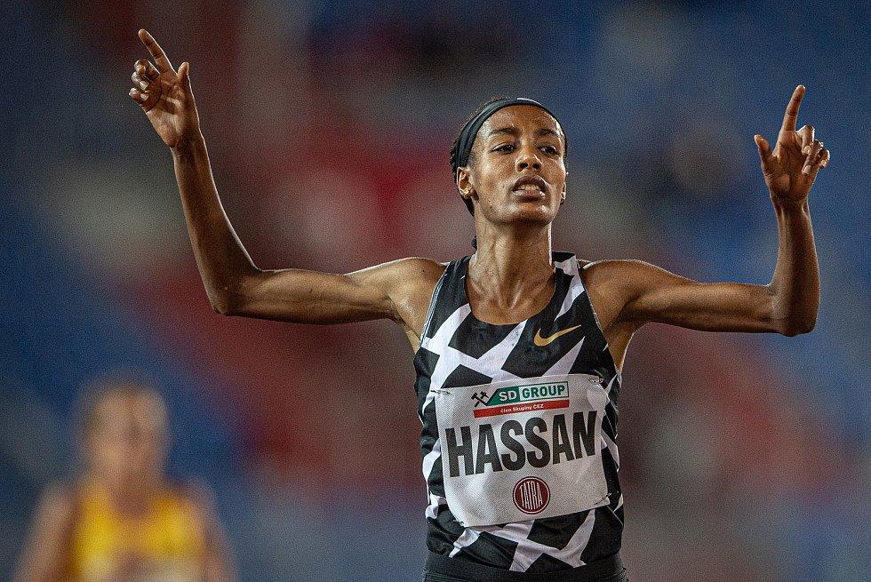Zlatá tretra Ostrava - 59. ročník atletického mítinku, 8. září 2020 v Ostravě. Závod 5000m ženy - Sifan Hassan.