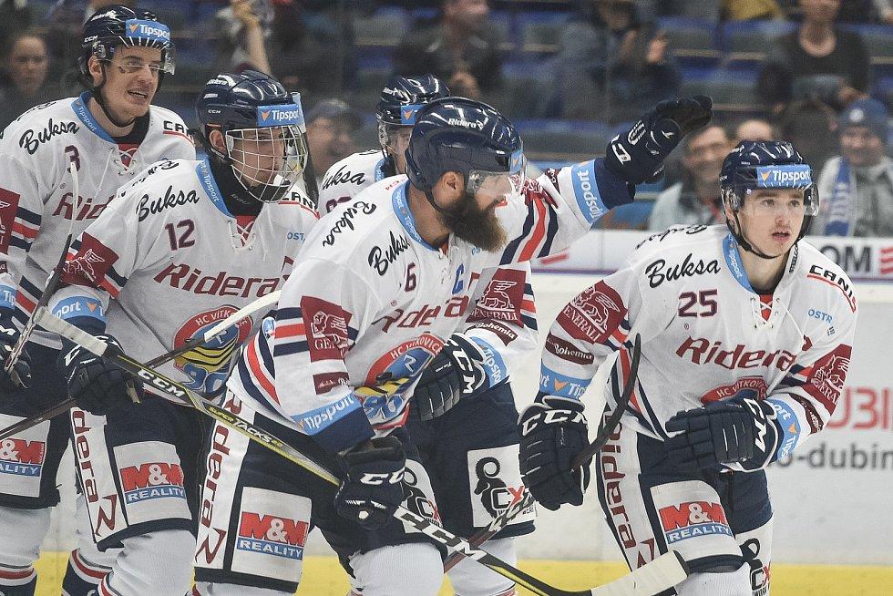Utkání 10. kola hokejové extraligy: HC Vítkovice Ridera - HC Kometa Brno, 14. října 2018 v Ostravě. Na snímku (vpravo) Patrik Zdráhal.