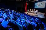 Veřejná debata ostravských primátorů, kteří stáli v čele města po roce 1990, 7. listopadu 2019 v Ostravě. Zleva