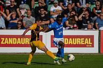 Utkání 2. kola MOL Cup: FC Hlučín - Baník Ostrava 0:1 po prodloužení, 25. srpna 2021 v Hlučíně.