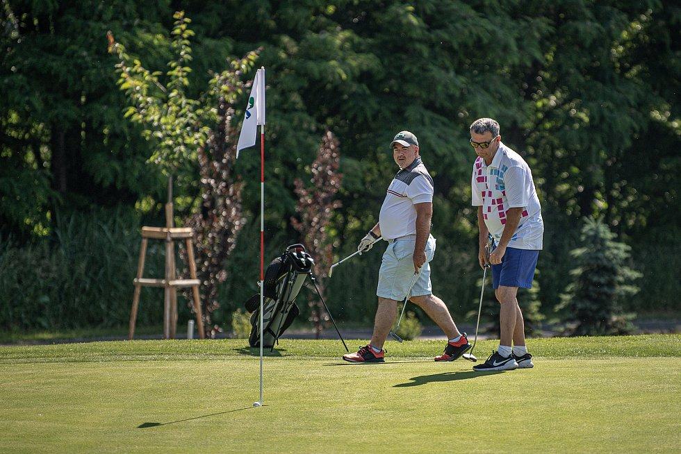 Otevření nové hřiště v areálu golf Park Lhotka, červen 2021.