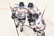 Utkání 32. kola hokejové extraligy: HC Vítkovice Ridera - PSG Berani Zlín, 4. ledna 2019 v Ostravě. Na snímku (zleva) Ondřej Roman, Jan Schleiss a Radoslav Tybor.