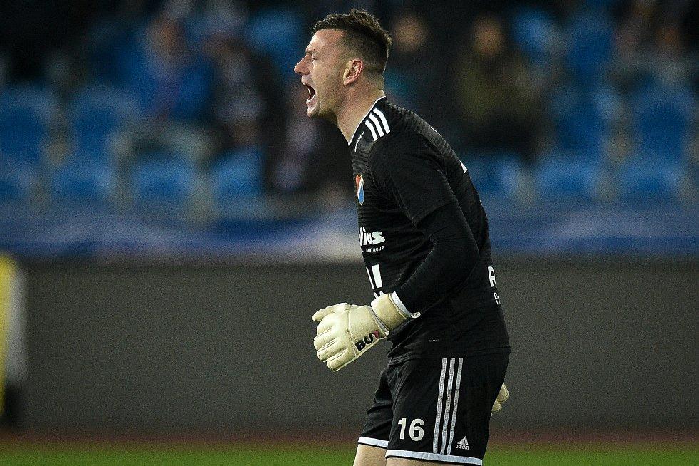 Utkání 23. kola první fotbalové ligy: Baník Ostrava - Fastav Zlín, 1. března 2019 v Ostravě. Na snímku Jan Laštůvka.