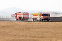 Zásah hasičů u požáru ve Slavkově.
