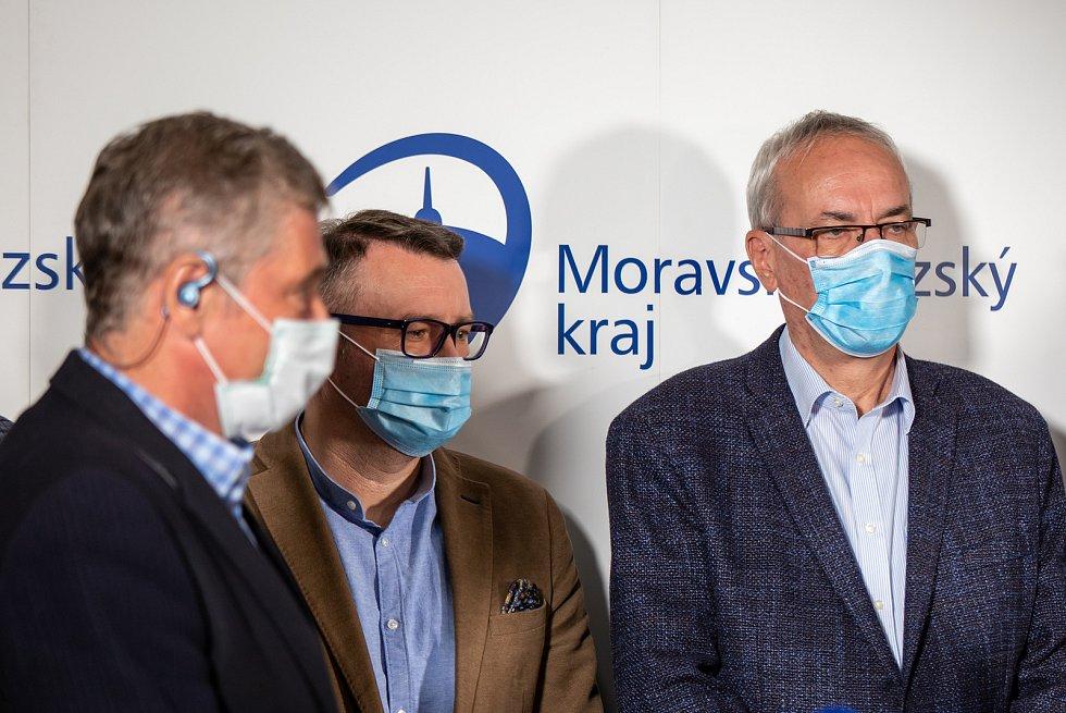 Tisková konference po krajských volbách, 4. října 2020 v Ostravě.