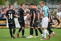 Fotbal, MOL Cup, SK Beskyd Frenštát pod Radhoštěm - FC Baník Ostrava. Hosté zvítězili 4:0, dva góly dal útočník Tomáš Zajíc, uprostřed.