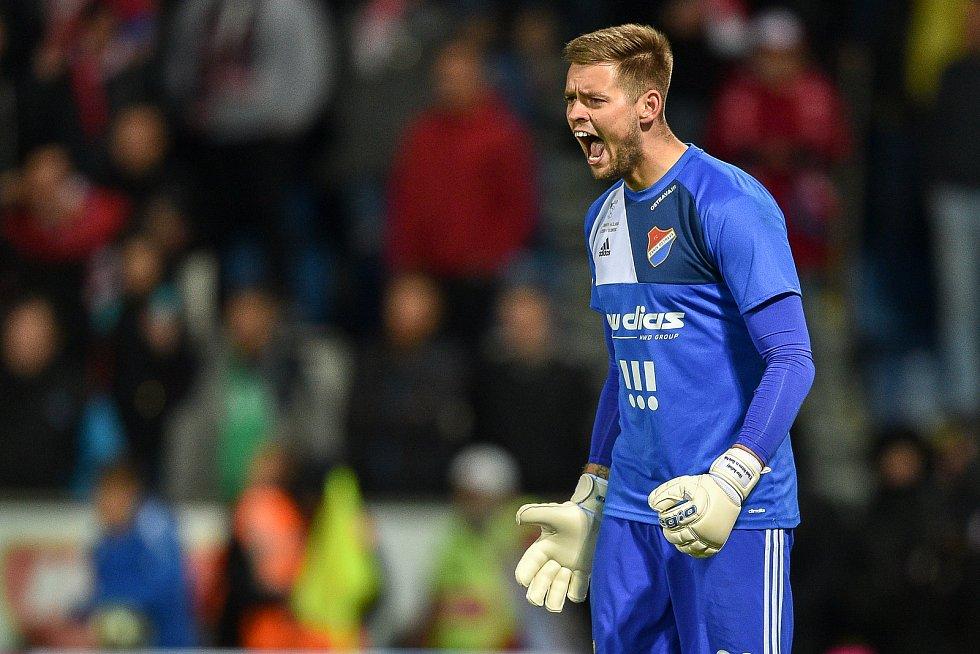 Finále fotbalového poháru MOL Cupu: FC Baník Ostrava - SK Slavia Praha, 22. května 2019 v Olomouci. Na snímku Viktor Budinský.
