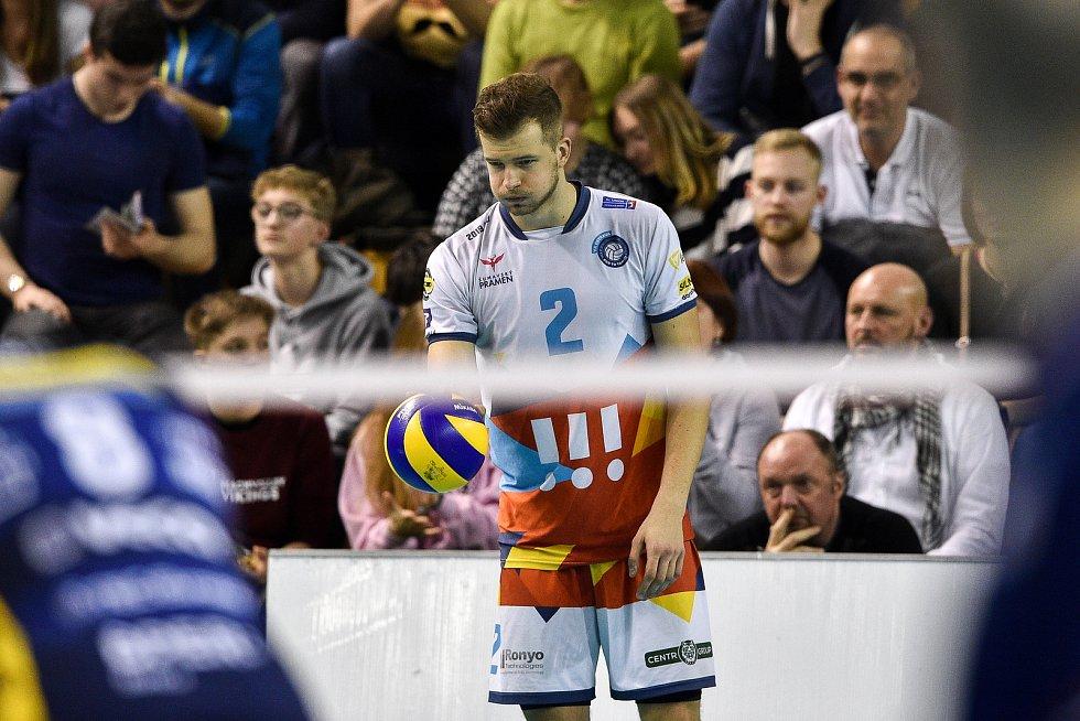 Zápas CEV Volleyball Cup 2020, VK Ostrava - Leo Shoes Modena, 12. února 2020 v Ostravě. Mariusz Marcyniak z Ostravy.