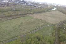 Letecký snímek pozemků