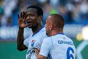 radost, gól, vlevo Dame Diop, vpravo Denis Granečný