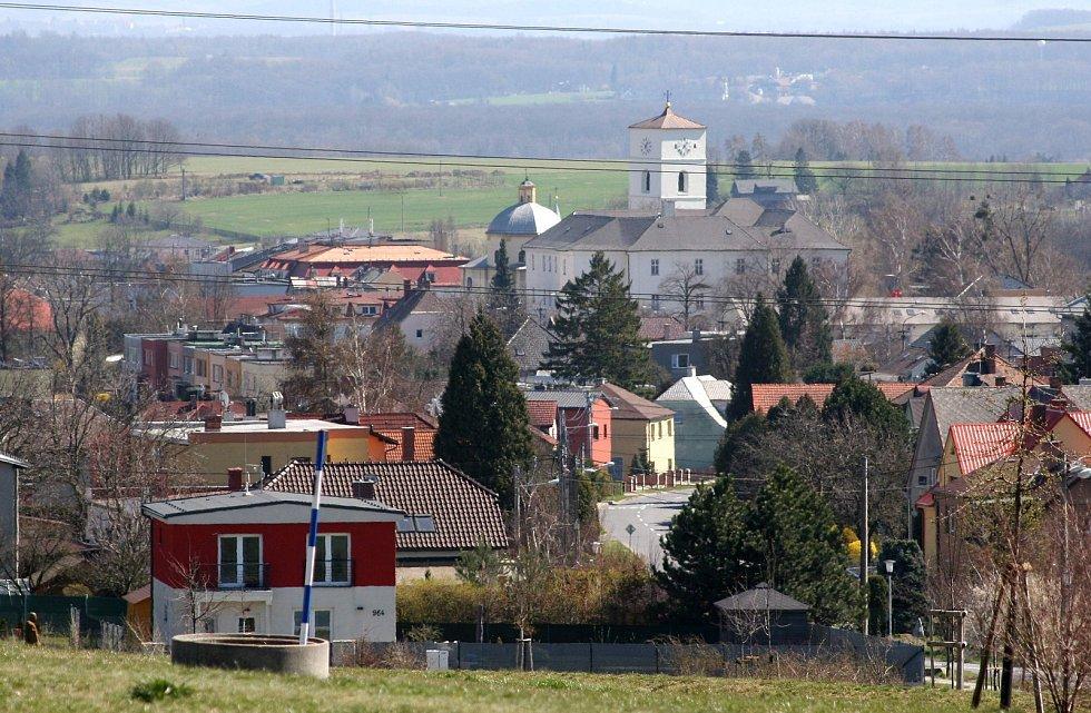 Klimkovice jsou lázeňské město, ležící 7 km jižně od Ostravy, duben 2020. Ilustrační foto.