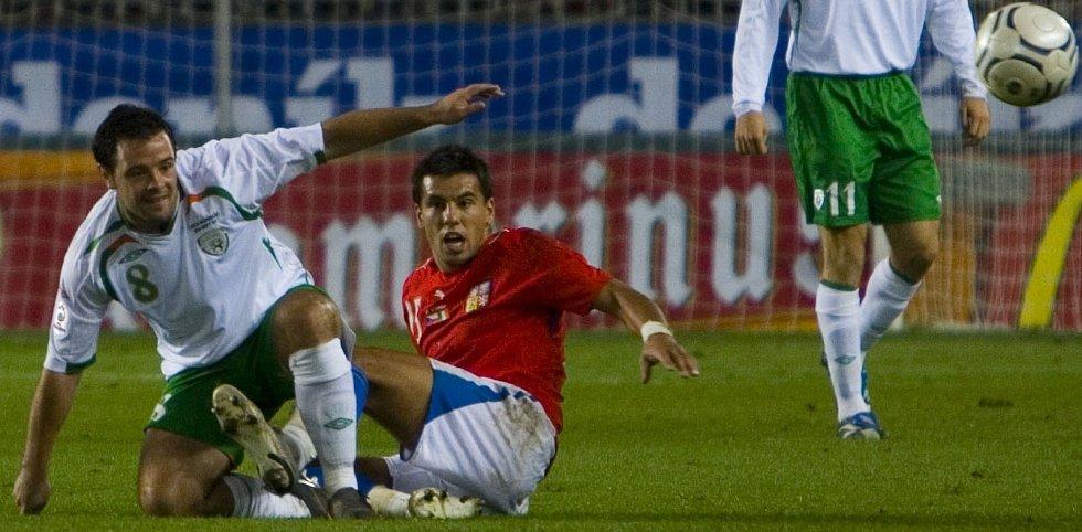 Milan Baroše při zápase s Irskem.