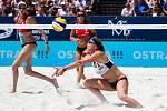 Ženy: Zápas o 3. místo USA - Nizozemsko. FIVB Světové série v plážovém volejbalu J&T Banka Ostrava Beach Open, 2. června 2019 v Ostravě. Na snímku Madelein Meppelink (NED).