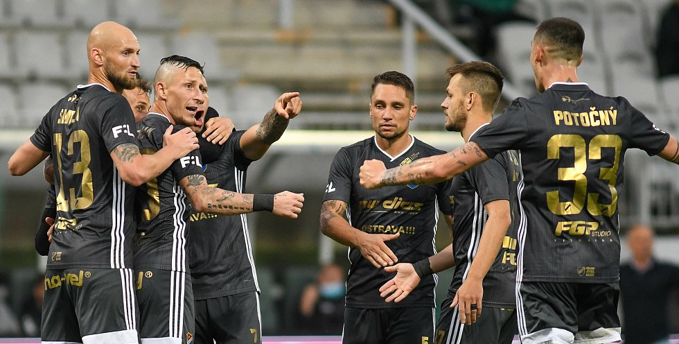 FORTUNA:LIGA - Skupina o titul, 5. kolo - FK Jablonec - FC Baník Ostrava, 8. července 2020 v Jablonci.