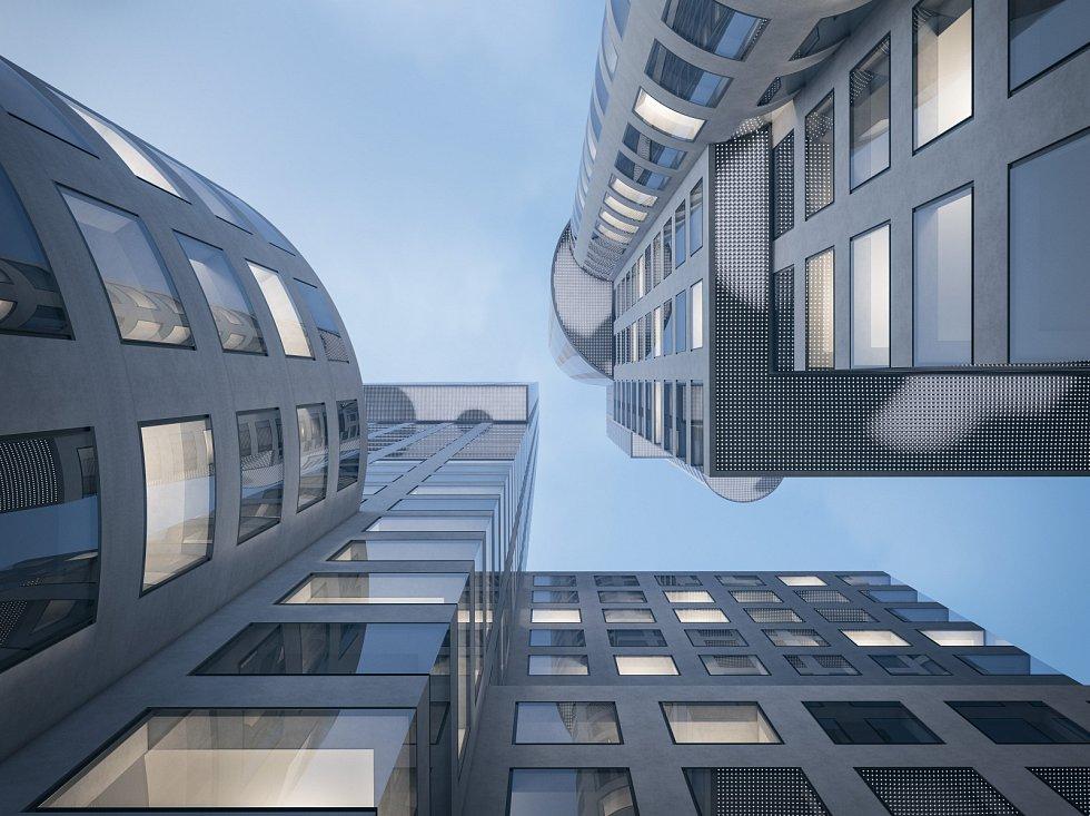 Ostrava Tower - vizualizace, spodní pohled