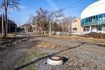 Místo zrušené tramvajové smyčky na Černé louce v Ostravě, leden 2020.