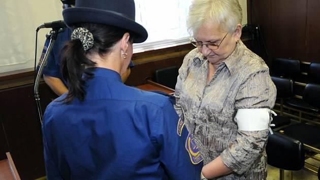 Marie Vítovcová u soudu