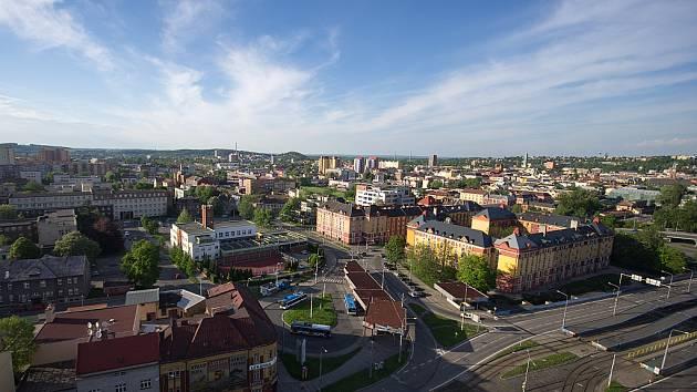 Z horních pater budovy Tieto Towers je krásně vidět panoráma celé Ostravy. Ilustrační foto