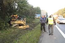 Záběr z nehody na Rudné ulici v Ostravě