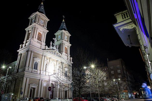 Katedrála Božského Spasitele vOstravě, 12.března 2021.