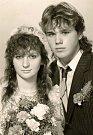 Zdenka a Lojza Spurní ve svatební den 10. prosince 1990